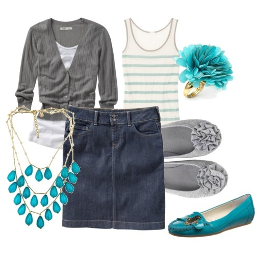 Love teal and gray!
