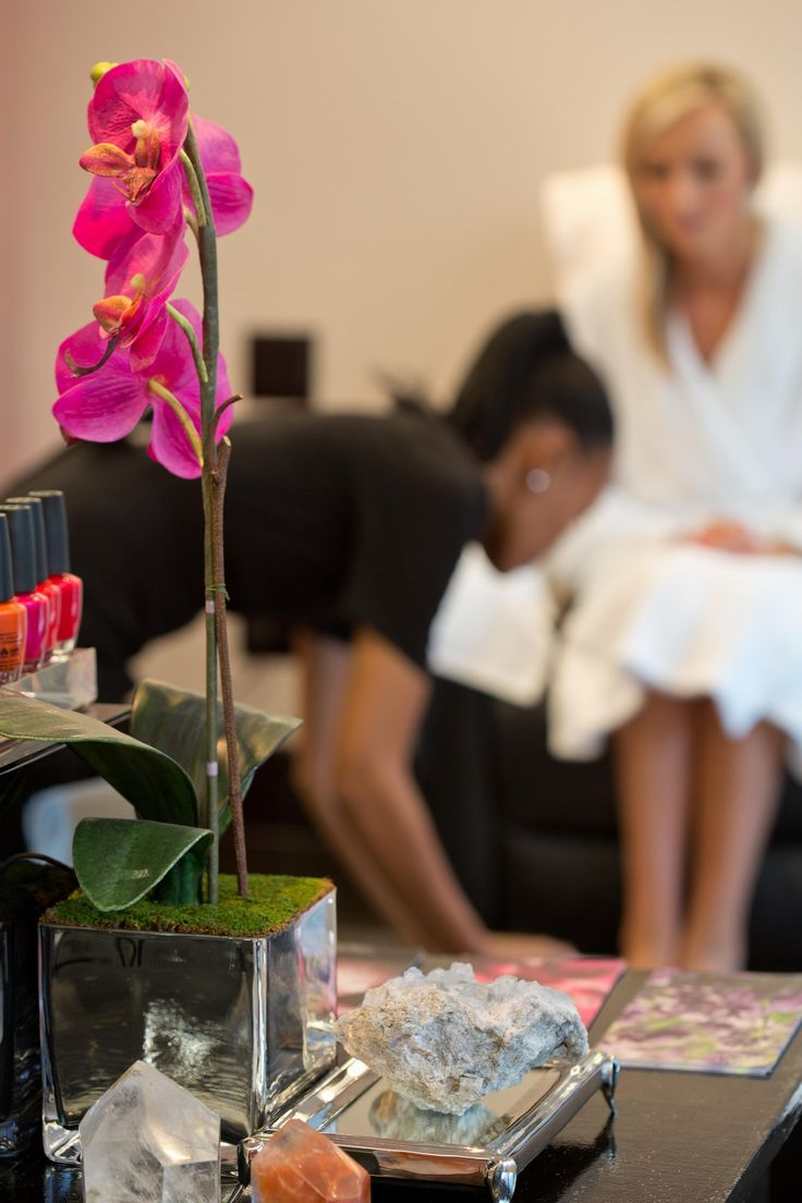 The pedicure station at the Africology Spa