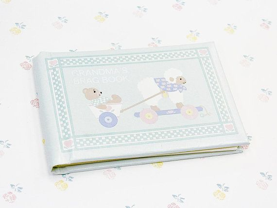 Vintage Brag Book Gift For Grandma Keepsake Baby Brag Book Nana