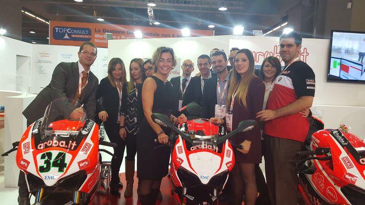 Team Aruba.it, Aruba Business e Aruba Racing insieme alla vincitrice della 899 Ducati Panigale in livrea Aruba Racing
