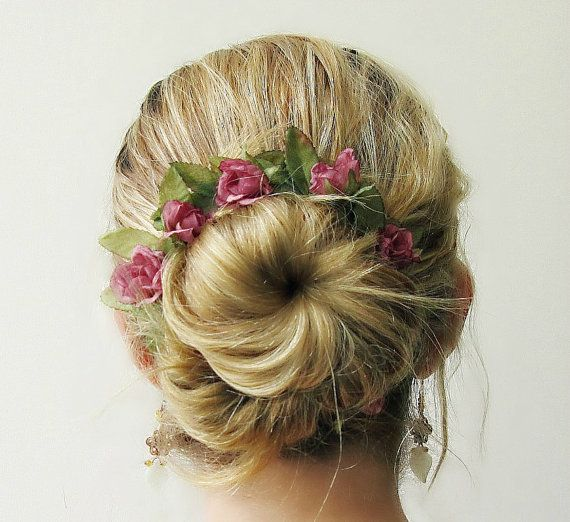 Briar Rose  Romantic Bun Belt flower crown for your by WhimsyDo, $18.00