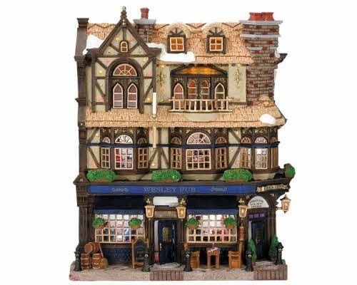 Lemax Village Collection Wesley Pub Facade # 45099