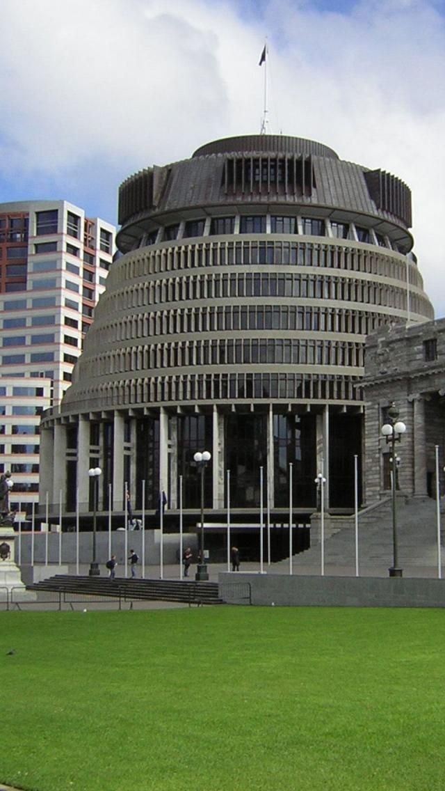 The Beehive, Parliament, Wellington, New Zealand