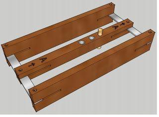 Ah! E se falando em madeira...: Gabarito centralizador para cavilha, PDF no blog