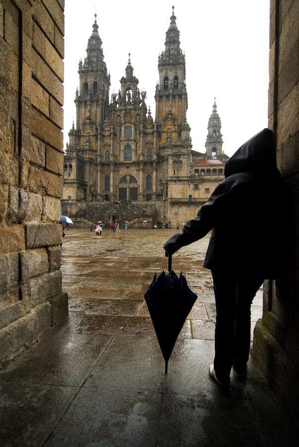 I will walk the Camino de Santiago.  Plaza del Obradoiro. Santiago de Compostela. Spain