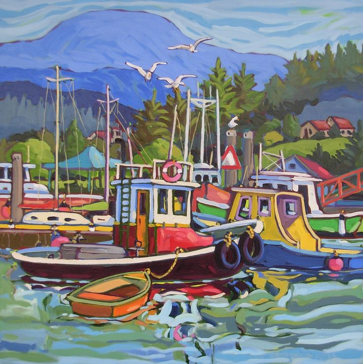 Greta Guzek.  After completing a Fine Arts degree in South Africa, Greta moved to the Sunshine Coast of BC where she now works out of her studio in Gibsons.