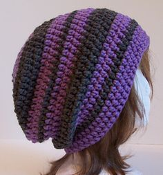Fascination Street Slouchy - Free crochet hat pattern by Kristina Olson. Chunky yarn.
