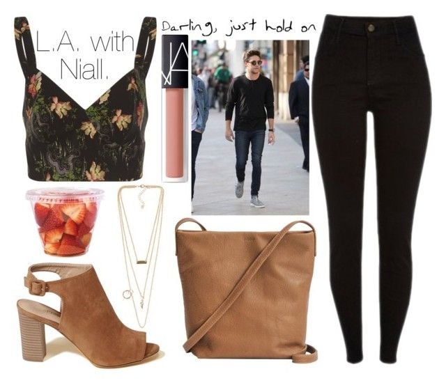 """L.A. with Niall."" by sunfayn on Polyvore featuring moda, NLY Accessories, Isa Arfen, Hollister Co., BAGGU e NARS Cosmetics"