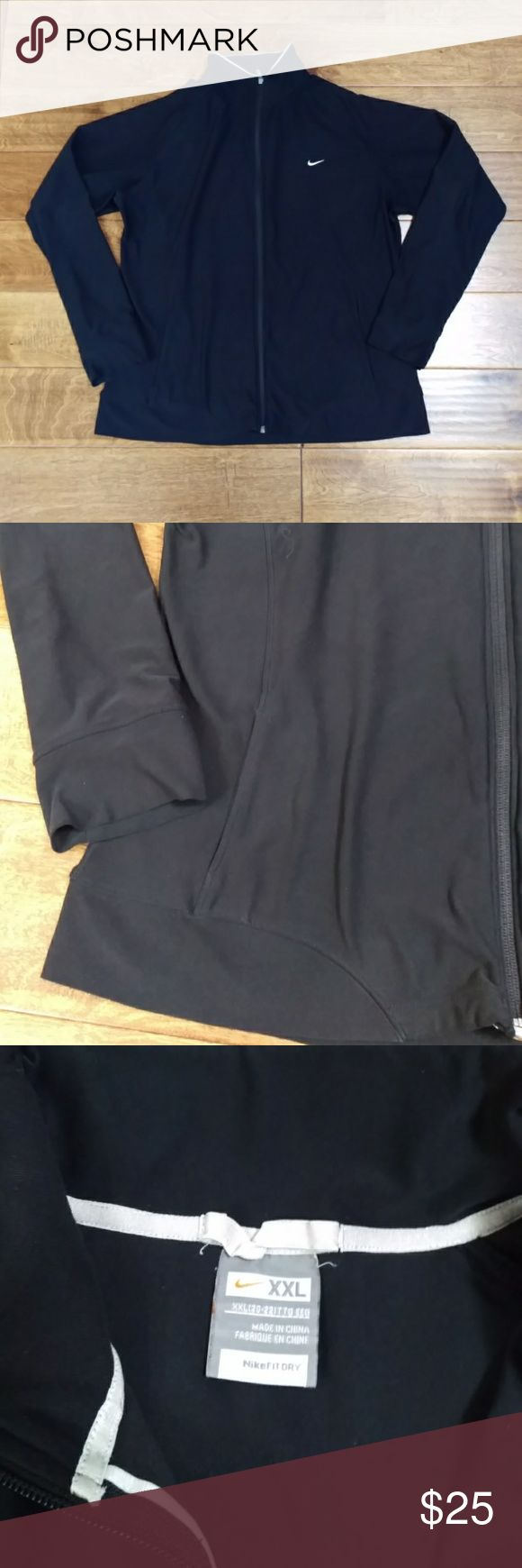 Nike Fit Dry Women's Sport Workout Full Zip Jacket Pre-owned in good condition. Size xxlarge. Nike Tops Sweatshirts & Hoodies