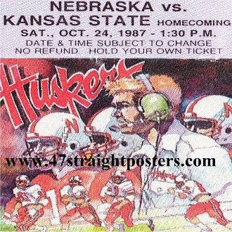 Nebraska Football Gifts, Nebraska football gift ideas. Best Father's Day Gifts 2013. Father's Day gift ideas under $40. Ceramic drink coasters made from over 2,000 historic college football tickets printed in the U.S.A. and shipped within 24 hours. #47straight #fathersdaygifts #collegefootball #gifts
