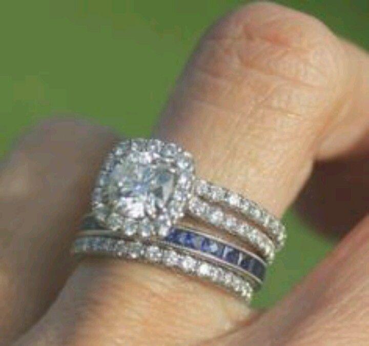 add a thin band of husbands birthstone wait my bfs birthstone is diamond - Birthstone Wedding Rings
