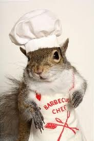 A squirrel BBQ King. Interesting.