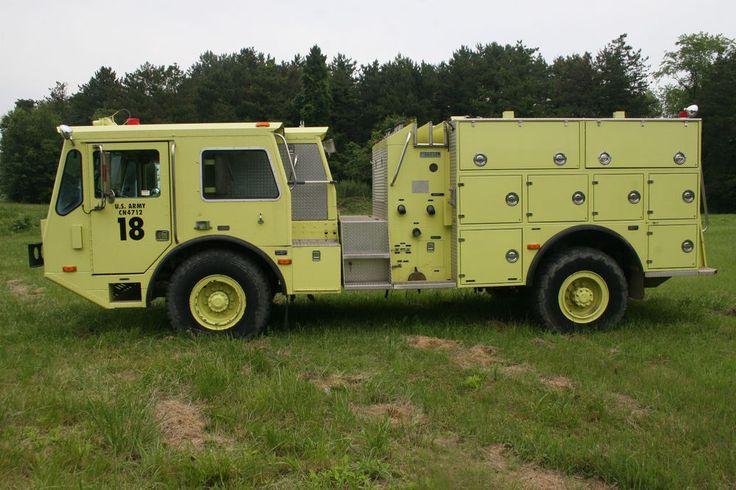1989 Amertek 2500L Tactical Fire Truck 660 Gal 92 Detroit ...