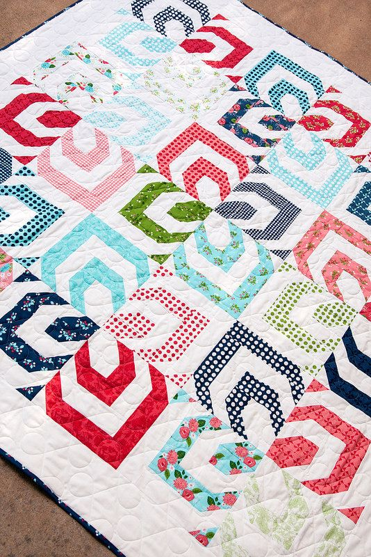 Kaleidoscope quilt pattern by Lella Boutique. Make it using a jelly roll. Gooseberry fabric by Vanessa Goertzen of Lella Boutique for Moda. Ships to stores October 2015.