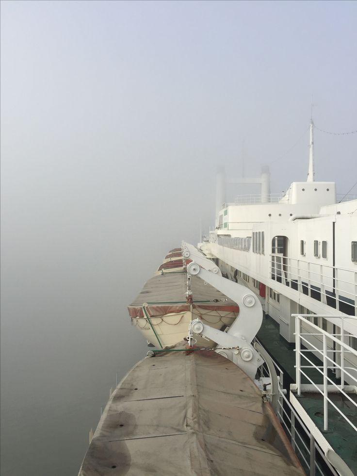 Hotel s.s. Rotterdam in de mist #Rotterdam #Katendrecht