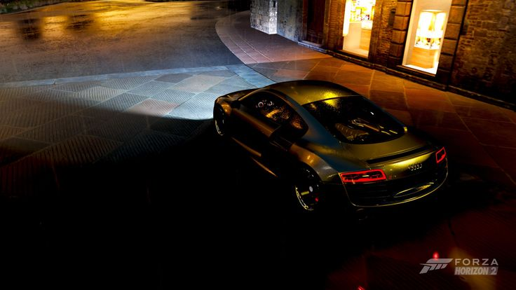 Audi R8 & Night city - Forza Horizon 2 / Xbox One (X1)