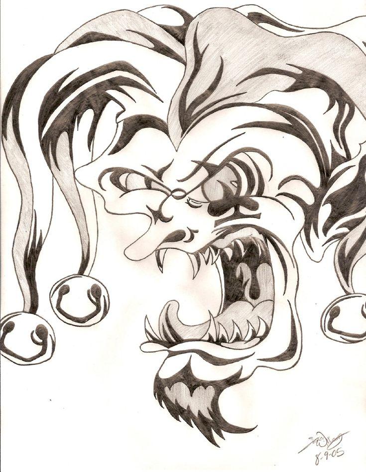 The 25 best Evil clown tattoos ideas on Pinterest Joker face