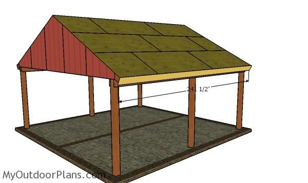 2 Car Gable Carport Roof Plans Myoutdoorplans Free Woodworking Plans And Projects Diy Shed Wooden Playhouse Pergola Wooden Playhouse Roof Plan Diy Shed