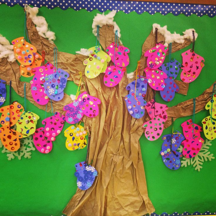 Classroom Decoration Ideas Tree ~ The mitten tree winter theme story craft and bulletin