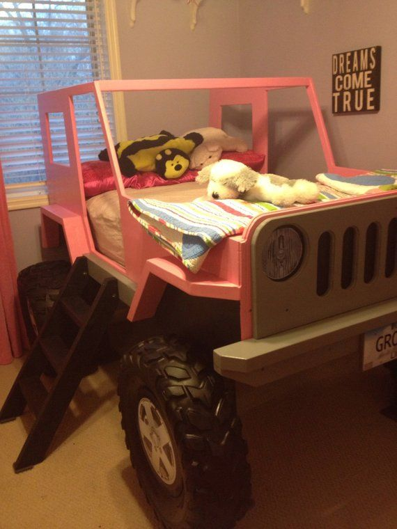 Jeep Bed Plans Twin Size Car Bed Etsy Jeep Bed Diy Kids Bed