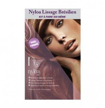 Kit Lissage Bresilien sans formol 100 ml Nyloa . Brazilian keratin treatment. Work fantastic  in black hair.