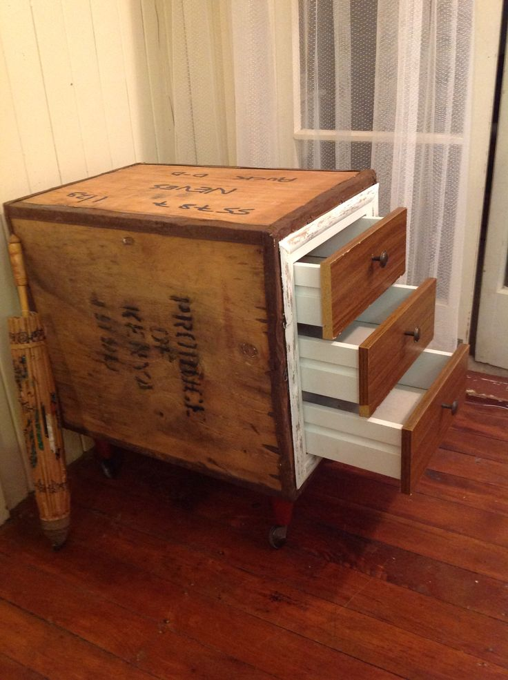 Charming Tea Chest Coffee Table Part - 5: Tea Chest Drawers Upcycled