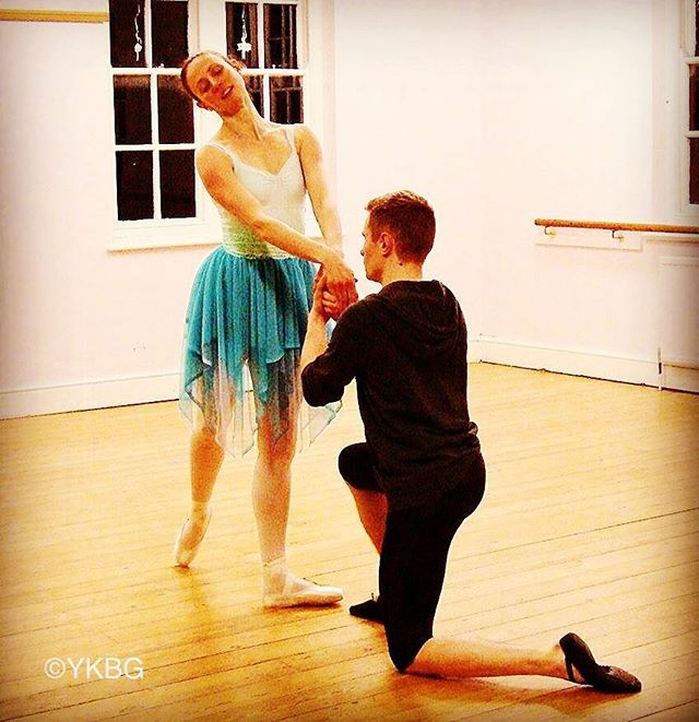 From a #rehearsal for #YKBG 's forthcoming show. #Titania and #Oberon from a #midsummernightsdream test driving a #costume skirt. #ballet #adultballet #oxford #lifeofadancer