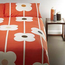 Orla Kiely Giant Abacus Tomato Standard Pillowcase Pair