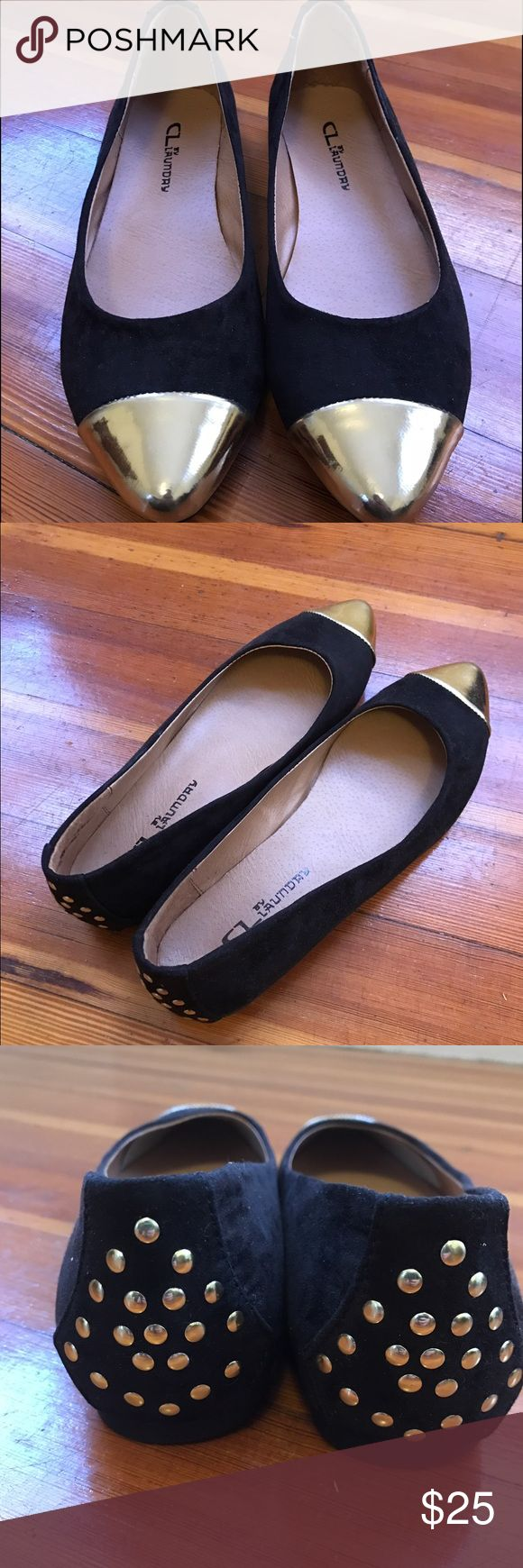 CL Gold Cap Toe Black Flats Brand new (never worn) pair of gold cap toe black flats. Chinese Laundry Shoes Flats & Loafers