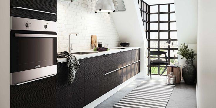 Enkla linjer och modern och funktionell köksdesign- HTH kök