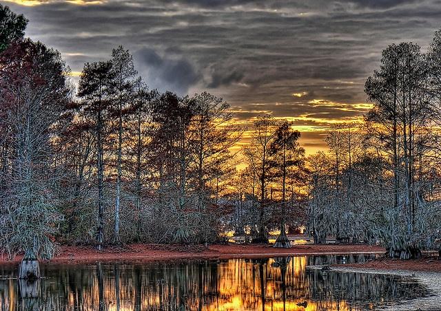 Sunset at Lake Blackshear, Veterans State Park in Cordele, Georgia by steve_rob, via Flickr