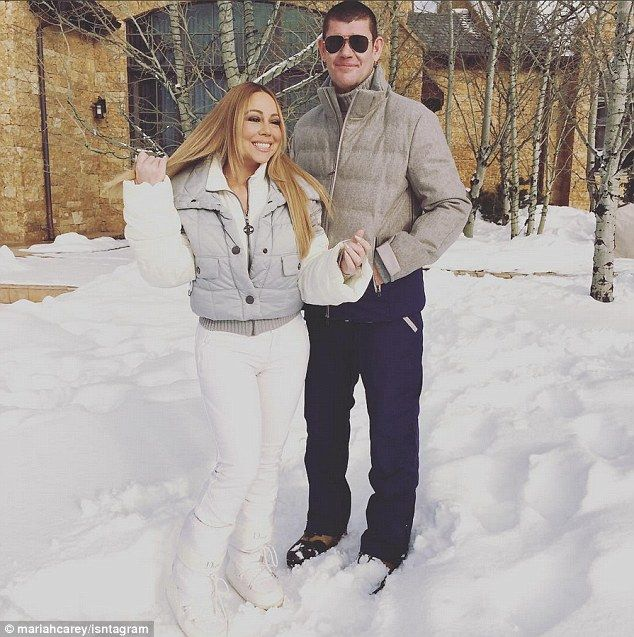 Love in the cold:Mariah Carey has flown to Aspen to celebrate Christmas this year. But sh...