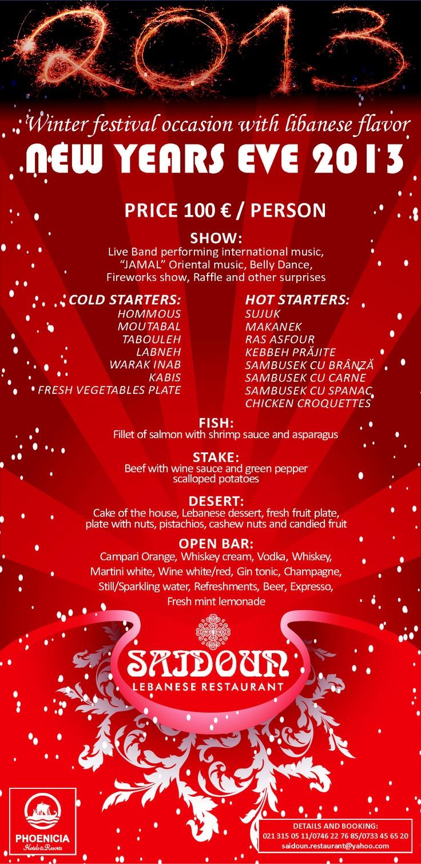 New Years Eve _ Saidoun Restaurant Flyer