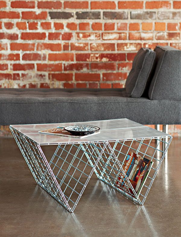 Wire Coffee Table Create this project to give your room an industrial edge.