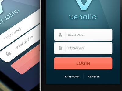 Nice iOS login layout design found on Dribbble.