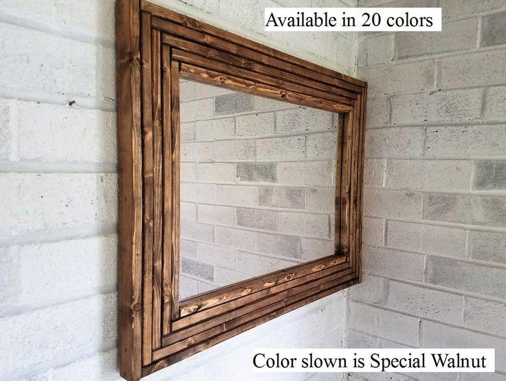 Western Mirror / Vanity Mirror (Stained)
