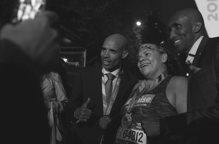 The official clock ended at 7:30 p.m., but that didn't stop these final athletes — some who competed for over 12 hours — from crossing the finish line and getting a medal at the 2017 New York Marathon.
