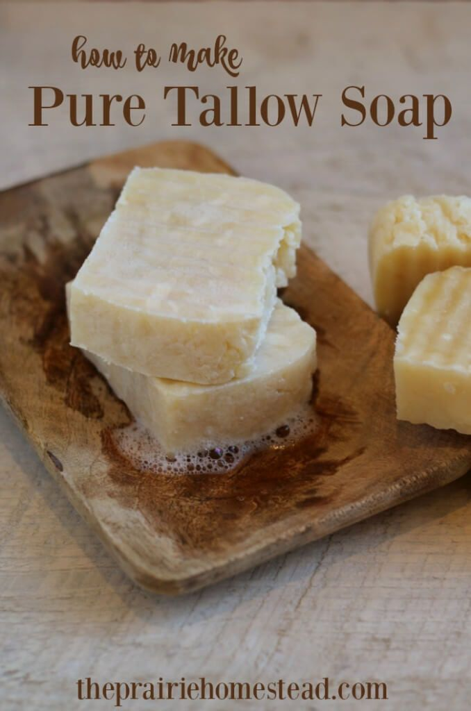 How to Make Pure Tallow Soap