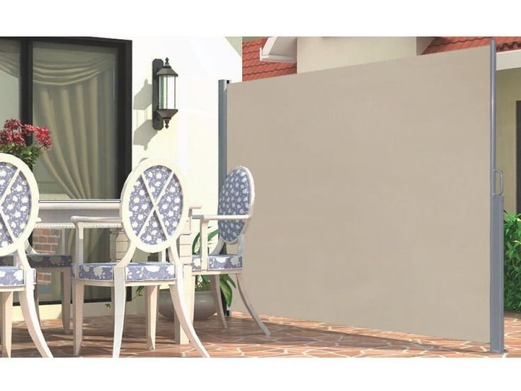 M x m retractable side screen awning with paravent for Gifi paravent retractable