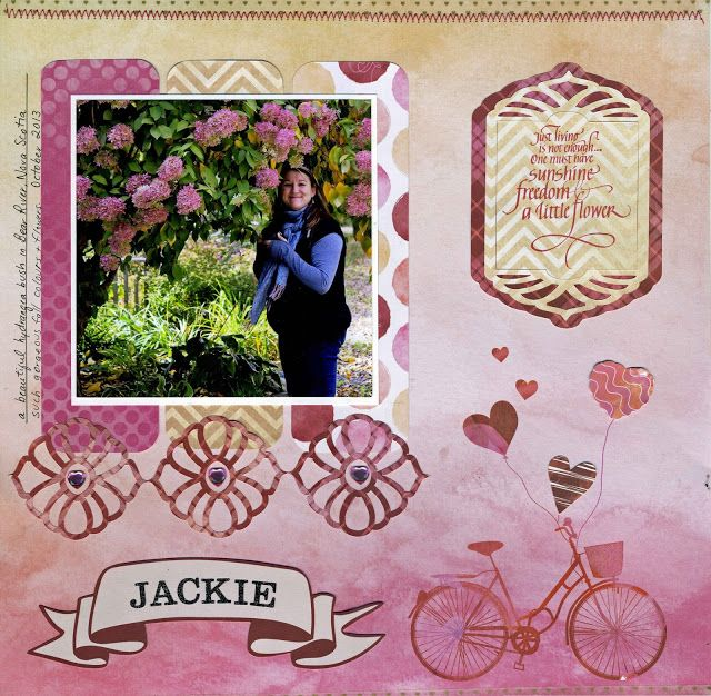 Quietfire Creations: Just Living is not Enough Scrapbook Layout