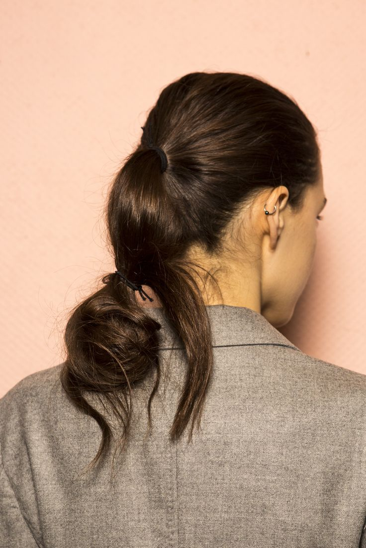 Chic and relaxed doubled-up ponytails by Adam Reed for Barbara Casasola #AW16 are a perfect look this season!