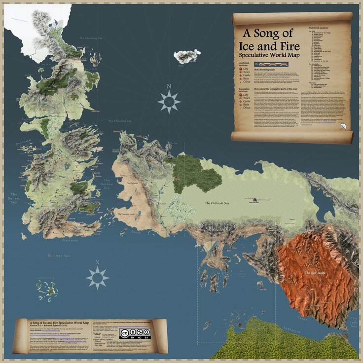 This Spoiler Filled map tracks the travels of