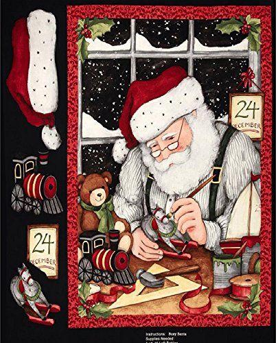 Busy Santa 3D Christmas Fabric Panel - Steele Creek Studio - 90cm x 110cm Steele Creek Studio http://www.amazon.co.uk/dp/B00NEOKMIE/ref=cm_sw_r_pi_dp_xxDdub076TW92