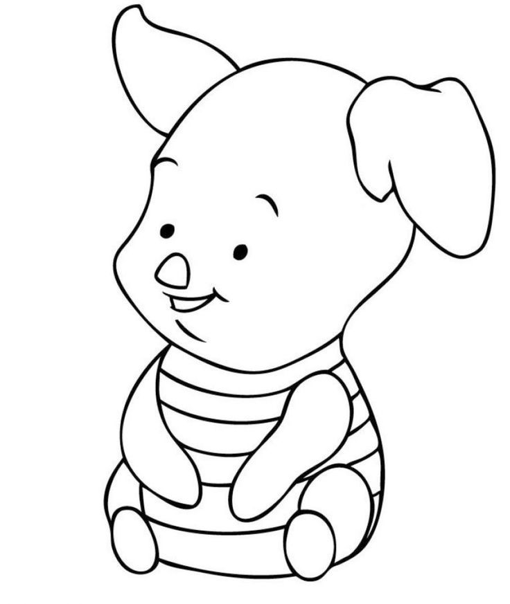 baby pooh clipart coloring pages - photo#25