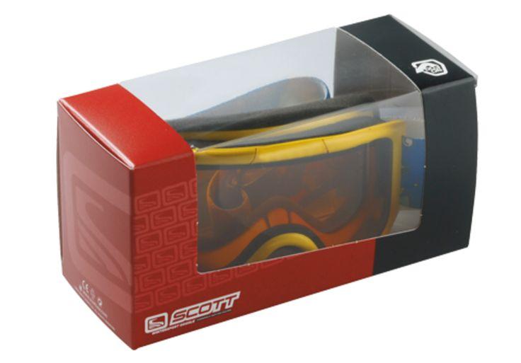 #Verkaufsverpackung für Skibrille • Stapelbare POS-Verpackung. • Großes, ums Eck geklebtes Sichtfenster • #Dinkhauser Kartonagen #Offset