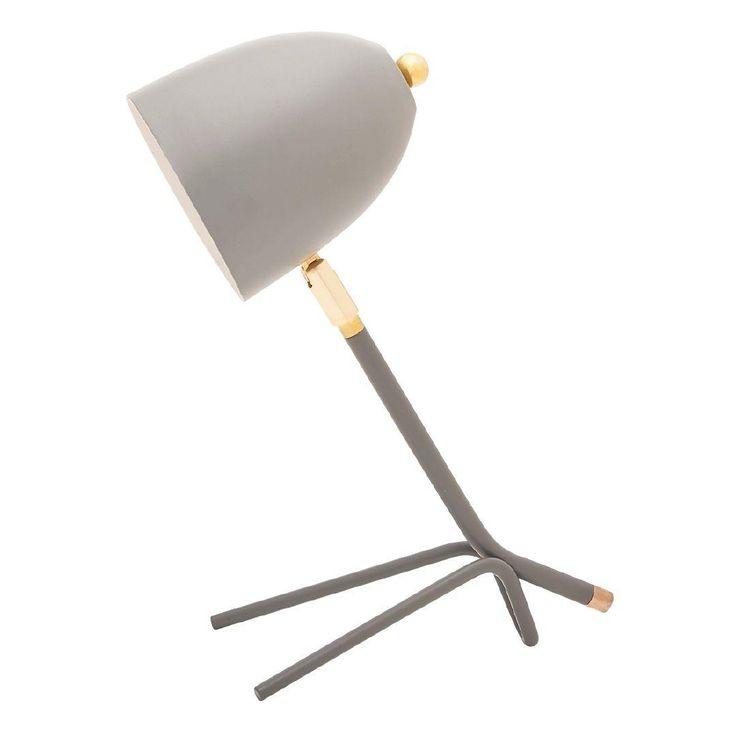 $9ea Living & Co Pollo Table Lamp Grey