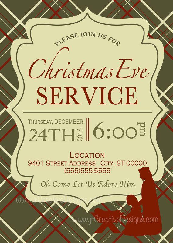 Christmas Eve Service Invitation Christmas Eve Candle