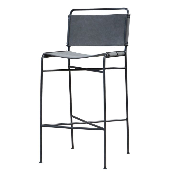 Penny grey washed canvas bar stool with iron frame also available as counter stool 20 5 new - Madeleine bar stool ...