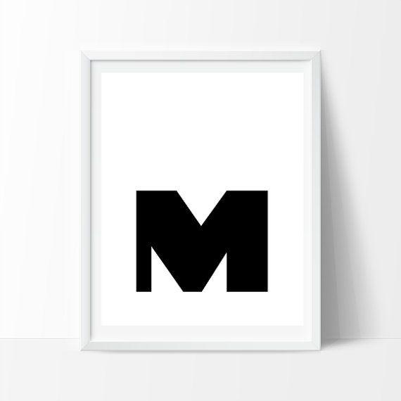Black Friday Sale Uppercase Letter M Print von iloveminimal auf Etsy