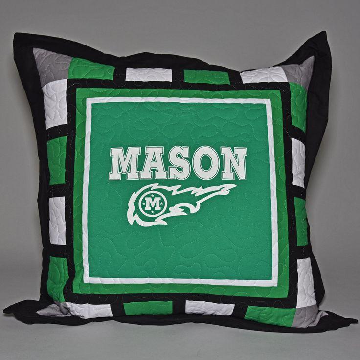 William Mason High School Comets T-Shirt Floor Pillow, Mason High School, Comets, School Spirit, Graduation, Mason Ohio, Bedroom, Dorm Room by LizanyaQuilts on Etsy